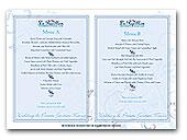 LePapillon wedding menus